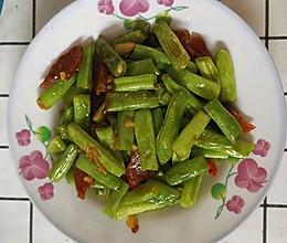 腊肠炒四季豆的做法