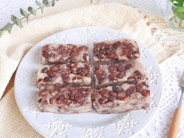 零失败❗️糯唧唧超好吃的❗️红豆糯米糕的做法