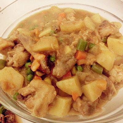 改良的惊喜土豆咖喱鸡