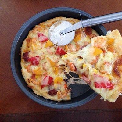 鲜虾披萨(会拉丝的pizza哦)