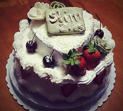 【装饰蛋糕】双层生日蛋糕