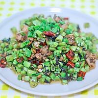 肉末橄榄菜炒四季豆的做法图解9