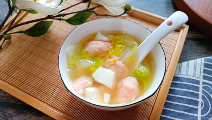 虾滑豆腐白菜汤#做道好菜,自我宠爱!#