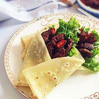 嫩牛肉卷饼#利仁电饼铛,烙烤不翻锅#