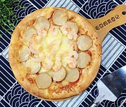 自制虾仁火腿披萨