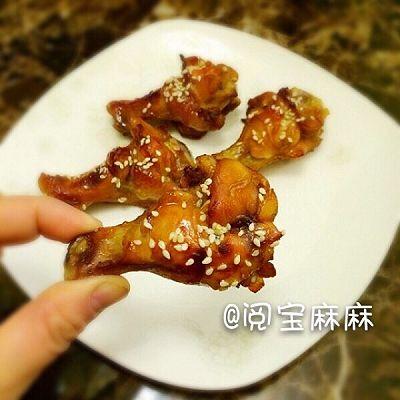 香烤蚝油蜂蜜鸡根