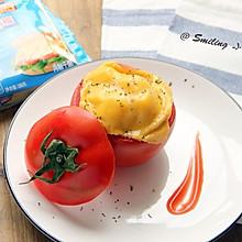 创意起司番茄面包盅#百吉福食尚达人#