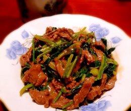 香菜滑炒牛肉丝的做法