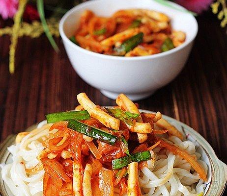 韩式鱿鱼拌面的做法