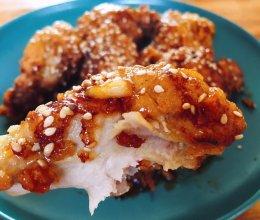 #人人能开小吃店#韩式蜂蜜炸鸡的做法