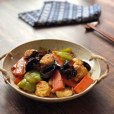家常菜鱼香日本豆腐