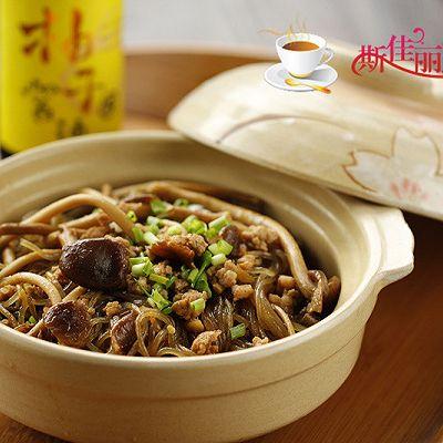 肉末茶树菇粉丝煲