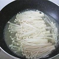 鲜汤浸金针菇的做法图解3