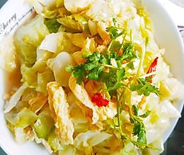 卷心菜炒腐竹的做法
