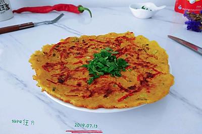 椒椒葱鹅燕麦饼
