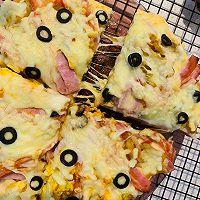 自創:榨菜、雞蛋雙拼烤披薩;的做法圖解9