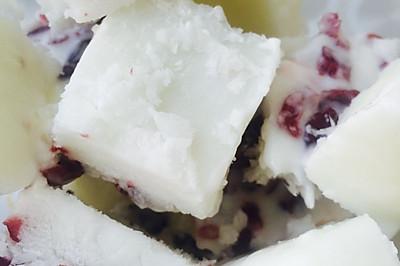 蔓越莓酸奶冰块
