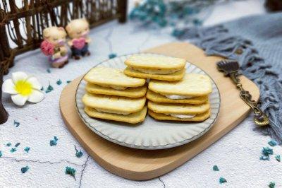 牛轧糖夹心饼干#柏翠辅食节-烘焙零食#