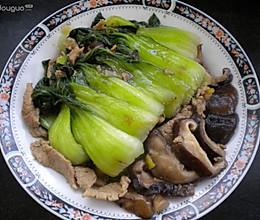 鸡汤香菇油菜的做法
