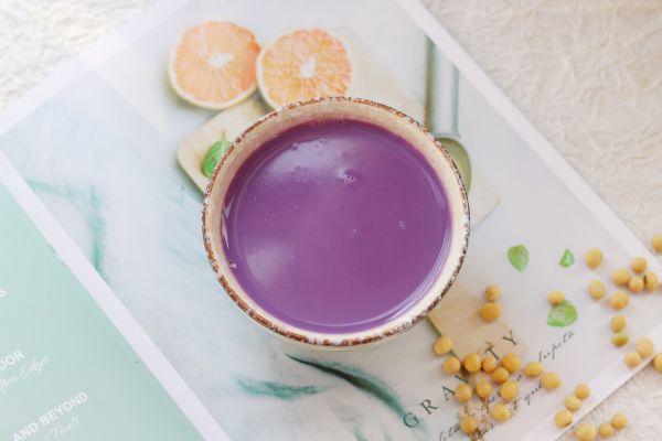 补脾健胃紫薯山药豆浆的做法