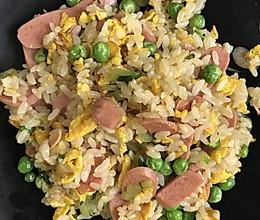 #餐桌上的春日限定#豌豆黄瓜火腿蛋炒饭~今日份好心情的做法