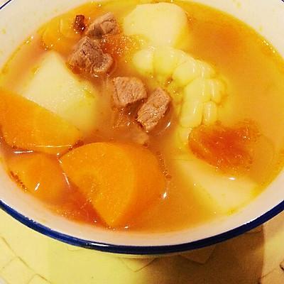 番茄牛肉玉米汤