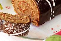 淋酱巧克力树莓蛋糕卷的做法