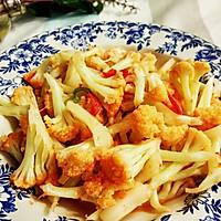 家常西红柿炒菜花的做法图解7