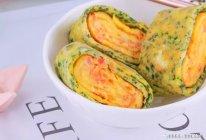双色厚蛋烧 宝宝辅食食谱的做法