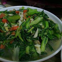 虾仁清炒小白菜
