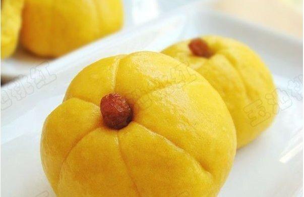 南瓜豆沙包(发面版)