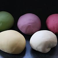 果蔬绣球馒头的做法图解3