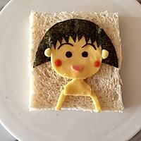 芝士萌娃三明治|樱桃小丸子#百吉福食尚达人#的做法图解10