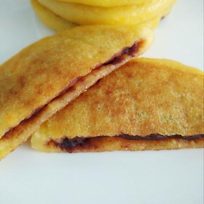 宝宝餐之玉米面豆沙饼