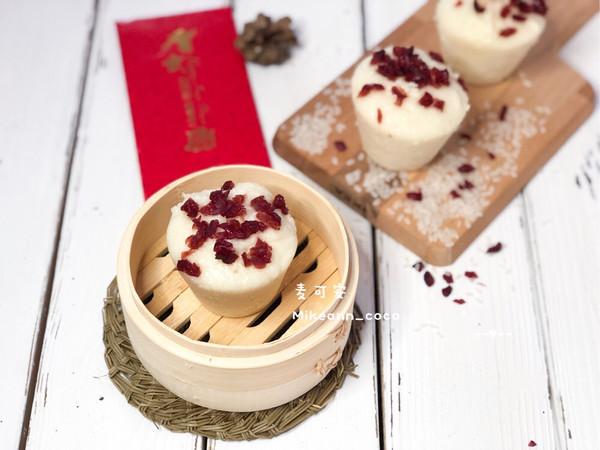 蔓越莓奶香发糕(12+)酵母版的做法