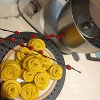 南瓜玫瑰花馒头的做法图解5