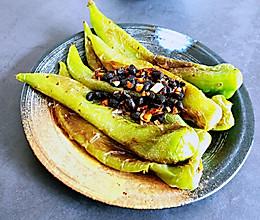 蒜蓉豆豉尖椒的做法