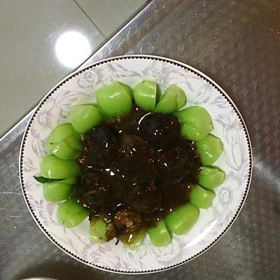 香菇油菜的做法 步骤2
