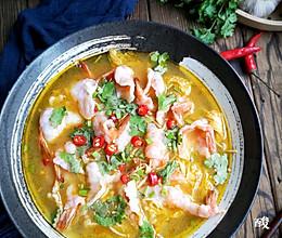 天气热没胃口试试这道酸汤虾片#巨下饭的家常菜#的做法