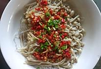 大喜大牛肉粉调味料试用之剁椒金针菇的做法