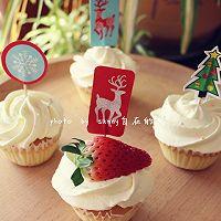 海绵纸杯蛋糕~圣诞节可爱小点心#九阳烘焙剧场#的做法图解13