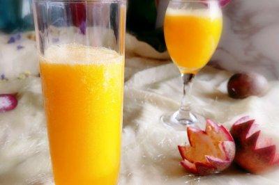 #美食新势力#百香果芒果汁