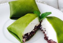{MissCream}抹茶蜜豆班戟的做法