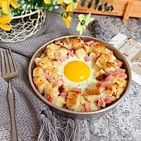 香肠吐司太阳蛋#520,美食撩动TA的心!#的做法图解7