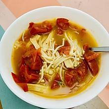 生酮美味椰子油番茄菌菇汤