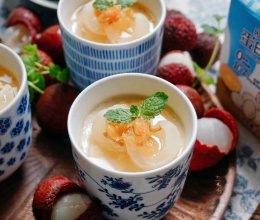 茉荔鲜奶炖蛋的做法