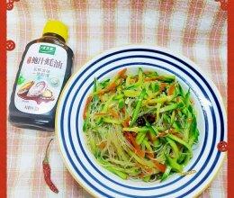 #百变鲜锋料理#胡萝卜黄瓜拌粉丝的做法