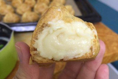 超好吃的卡仕达泡芙