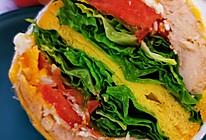 低脂鸡胸三明治营养早餐的做法