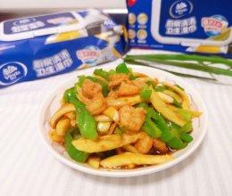 茭白青椒炒虾仁的做法